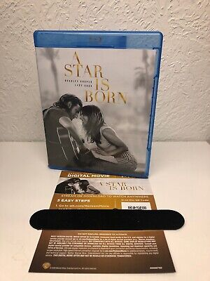 A STAR IS BORN 2019 Blu Ray + Digital HD!!! NO DVD INCLUDED!! Lady Gaga!!