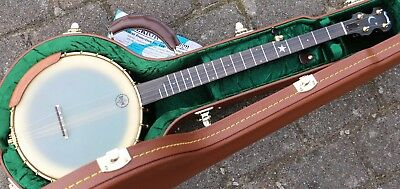 NEU Bishline Okie 5 String Open Back banjo mit Scoop dobson tonering Made in USA