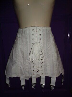 "Nymphit 6 Suspender Open Girdle 32"" Corset Belt Cincher 1950's Retro HS1616"