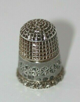 Charles Horner Solid Silver Thimble