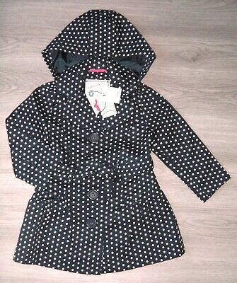 Bnwt Girls Next Smart Polka Dot Trench Coat Jacket 3-4 Yrs New Summer Wedding
