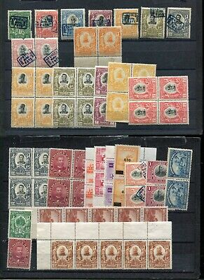 (FE172) Haiti  MNH stamps 3 pages stamps 1904 are fakes some block of 4
