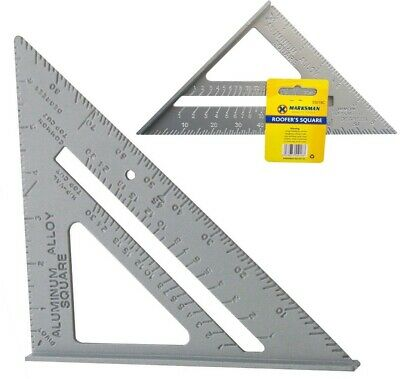 "New 7"" Aluminum Roofing Roofer Square Carpenters Wood Working 7 Inch Alloy Tool"