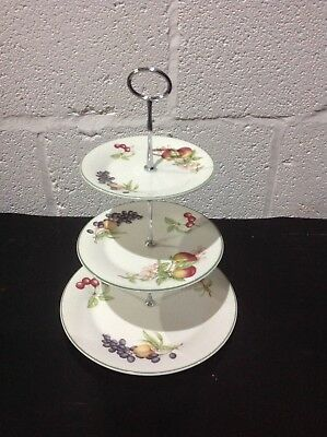 Marks & Spencers M&S ASHBERRY Royal Doulton 3 TIER CAKE STAND