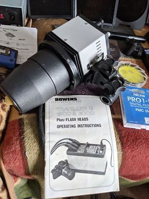 Bowens Traveller 3000GH Flash Head for photographer Large Box on wheels + EXTRAS