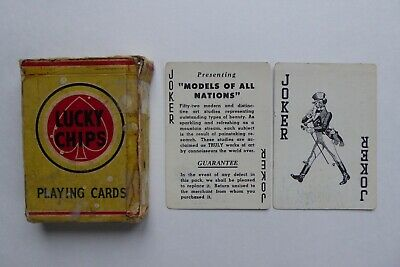 Vintage Adult theme Risque playing cards complete set 1953 Models of all Nations
