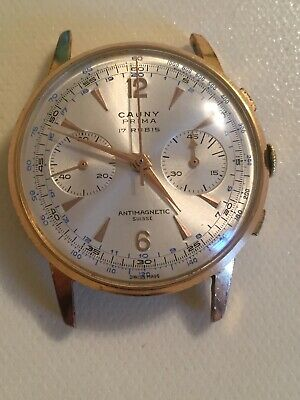 Vintage Cauny Manual Wind Gents Chronograph Watch - 1950s / 60s.
