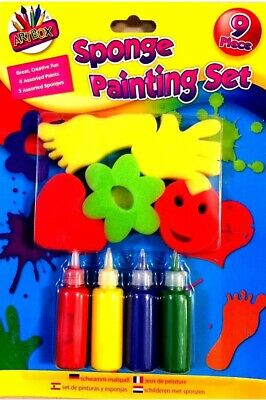 Kids Paint Brushes Sponge Painting Brush Finger Paints Set for Children Toddlers