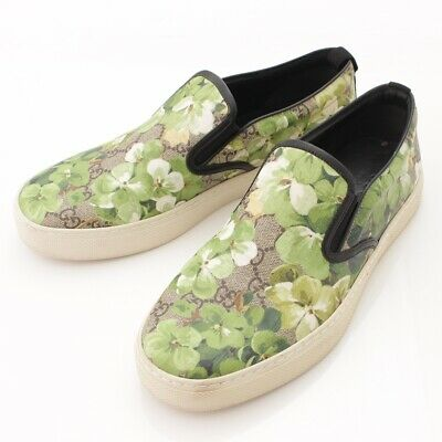 27b1afae43a Authentic Gucci Men s Gg Supreme Floral Slip-Ons Green 7 Grade Ab Used - Hp