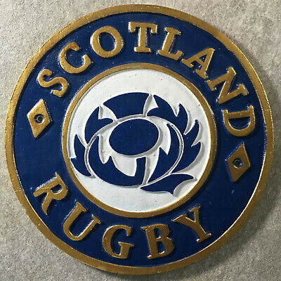 Scotland Rugby Plaque Scottish Rugby Union Sign Cast Iron 24cm Murrayfield