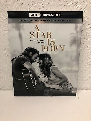 A Star Is Born 4K Ultra + Blu-Ray + Digital HD Brand New Ships Fast!!