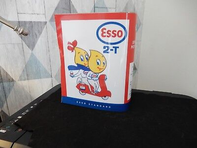 bidon d'huile ancien esso SCOOTER, reproduction, pin up esso ,oil can ,oldose