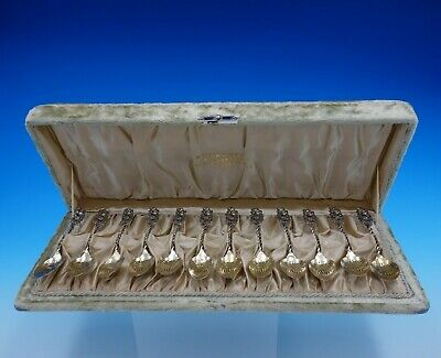 Number 39 by Whiting Sterling Silver Demitasse Spoon 12pc Set GW Fancy in Box