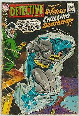 Detective Comics #373 - 2nd appearance of Mr. Freeze! Silver Age GD/VG 1968