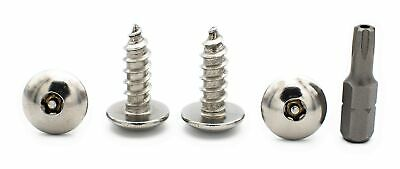 Anti-Theft Licence Plate Screw/Bolt - Tamper Resistant Stainless Steel Fasteners