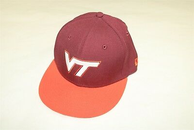 Virginia Tech Hokies New Era 59Fifty Youth Boy s Fitted 2-Tone Hat Cap 6 5 95b0bfbf611d