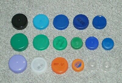 PLASTIC MILK BOTTLE TOPS x 132 ASSORTED COLOURS ART/CRAFTS/SCHOOL/HOME PROJECTS