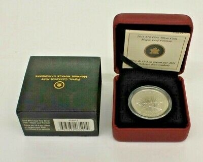 2011 $10 1/2 oz Fine Silver Coin - Maple Leaf Forever 41792/100000