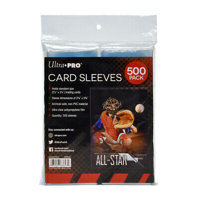Ultra Pro - Standard Soft Plastic Trading Card Sleeves-500 Count Pack-New Sealed