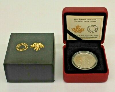 2016 $10 Fine Silver Coin - Canadian Maple Leaves 20289/30000