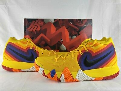best service 5eed2 b0938 NIKE KYRIE 4 IV Decades Pack The 70s Yellow Multi-Color Basketball  943806-700