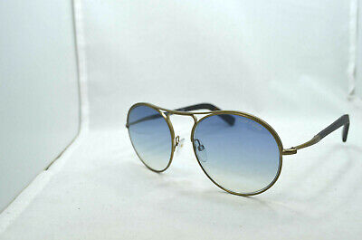 ded4fac7fb1 NEW TOM FORD JESSIE TF449 37W Round Antique Gold Frame Blue Gradient ...