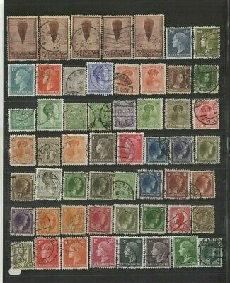 FEB 177 Luxembourg - Belgique lovely selection of MIXED USED stamps UNCHECKED