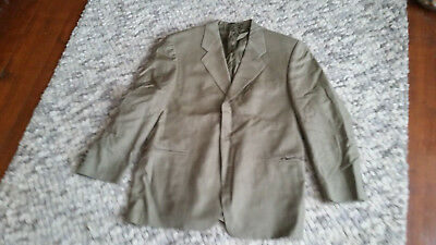 Green cool wool made in Italy two piece suit,  size 50
