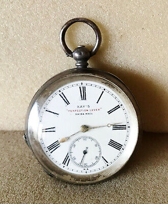 Solid silver Kay's Perfection Lever Pocket watch
