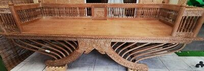 Collector's item Beautifully carved Teakwood Day Bed/Chair