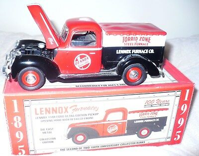 Lennox Furnaces 1940 Die-Cast Ford Pickup Truck Bank