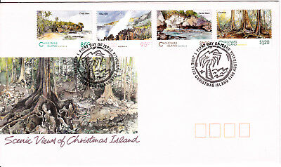 1993 - Christmas Island - Scenic Views - FDC