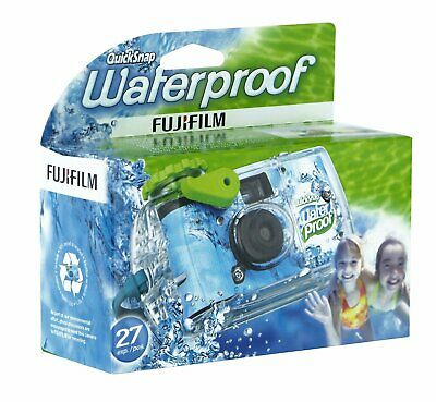 Fujifilm Quick Snap Waterproof 27exp 35mm Camera 800 film,Blue/Green/white,1Pack