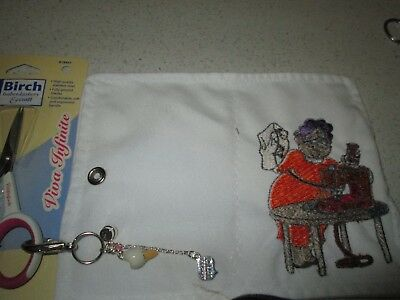 Embroidered Needle Case Sewing Gran  Scissors And Scissor Safe