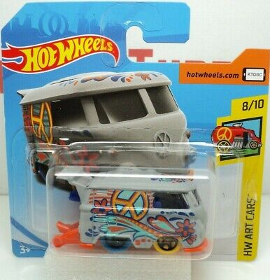 Vw Volkswagen Kool Kombi T1 T2 Split Screen 8/10 Art Cars Hot Wheels Mint Card