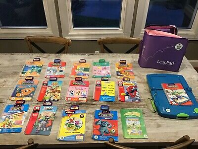 Leap Frog Leap Pad Learning System 14 Cartridges And Books - Never Used All Work