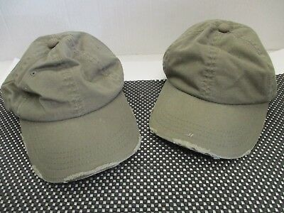 fcad18b04c6 1 Pair New Vintage Olive Green Caps hats-Distressed-6 Panel-Buckle