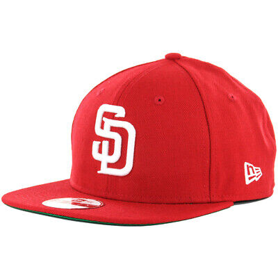 outlet store 1c6a4 6b989 New Era 9Fifty San Diego Padres Snapback Hat (Red White) Men s Custom Wool