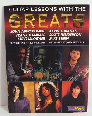 Lessons with the Greats: Guitar - Method Book & Cassette Tape Jazz Rock Fusion