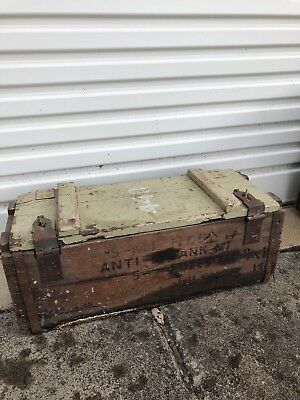 Vintage Industrial Army Wooden Box - Create