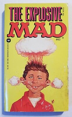 MAD Magazine Paperback Book: #60 The Explosive MAD 1982 1st Print VG