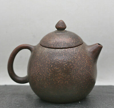 Exquisite Antique Chinese Yixing  Orange Peel Teapot Made & Signed By Master