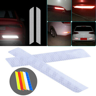 Reflective Safety Decal Mark Strips Car Door Stickers Warning Tape Auto 2x White
