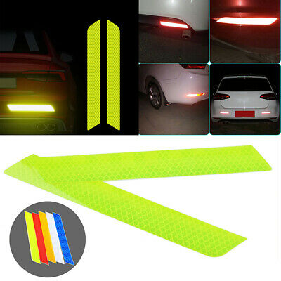 Reflective Safety Mark Strips Car Door Stickers Warning Tape Auto 2x Yellow