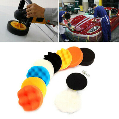 "11pcs 3"" Buffing Waxing Polishing Sponge Pads Kit Set For Car Polisher Drill UK"