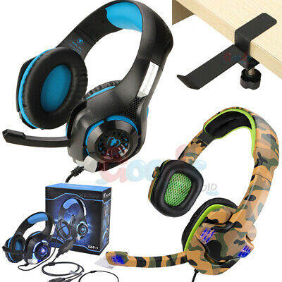 3.5mm Gaming Headset Stereo Surround Headphone With Mic For PS3 Xbox ONE +Holder