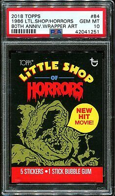 2018 Topps 80th Anniversary Wrapper Art #84 1968 Little Shop Horrors /209 PSA 10