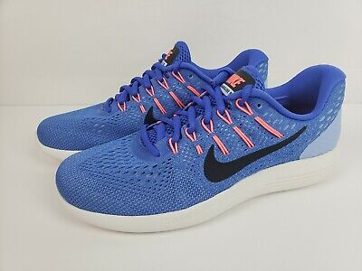 36bc93b2093 NIKE Lunarglide 8 Womens Running Shoes Blue Black White Size 8.5 AA8677 406