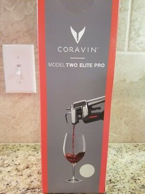 CORAVIN Model Two Elite PRO Wine System ~ NEW IN BOX ~ SILVER