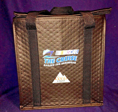 Coors Light ~ Black Zippered Cooler ~ NASCAR the Cruise ~ Sailing the Caribbean